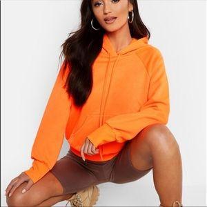 Boohoo Orange pull over hoodie🎃